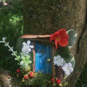 mini porte de fée bleu