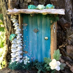 petite porte de fée bleu lcair