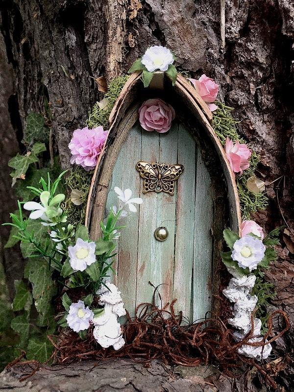 Petite porte de fée vert pale