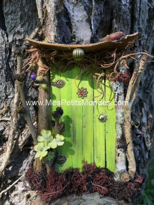 Petite porte de fée vert pomme