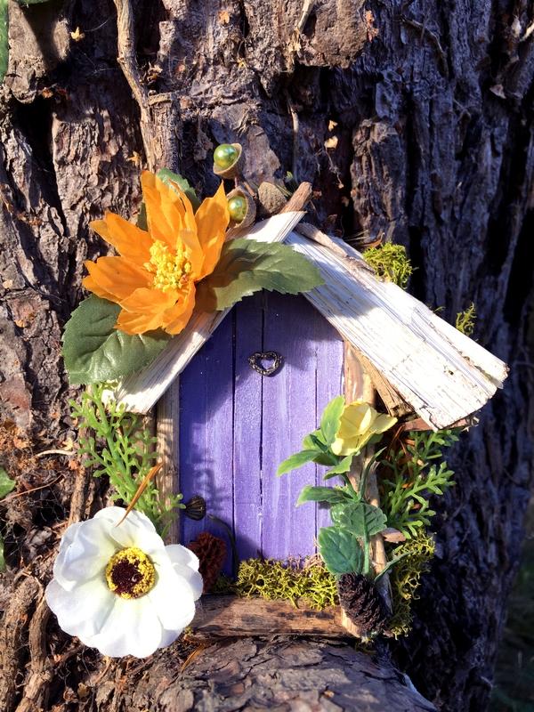 petite porte de fee violette